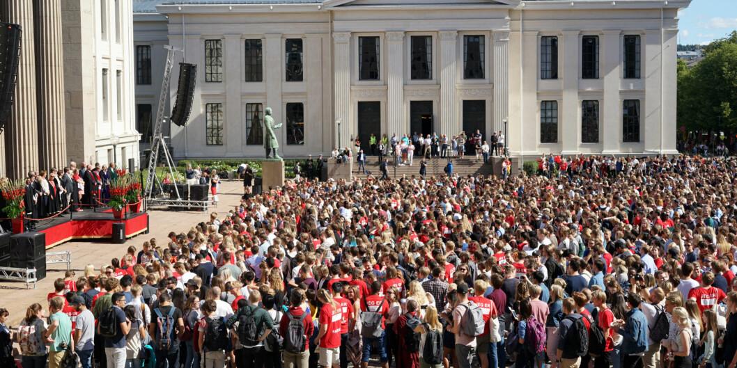 Fra studiestart 2022 kan rektor ved Universitetet i Oslo muligens ønske UiO-studentene velkommen som ikke bare studenter i Oslo, men også i London, Paris og Berlin. Foto: Ketil Blom Haugstulen