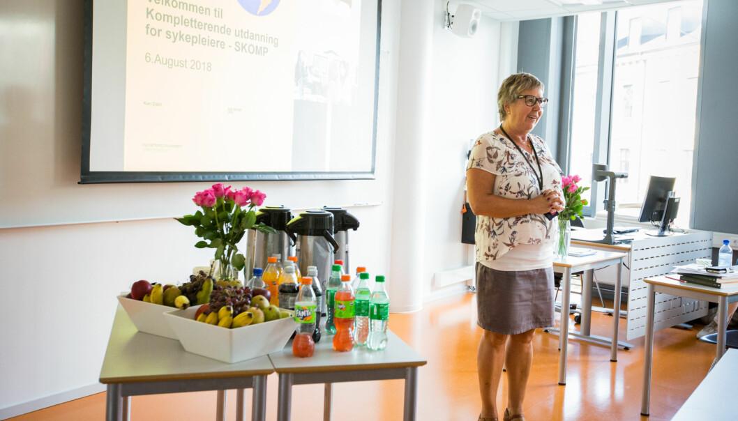 Førstelektor Kari Dahl er fagansvarlig for den kompletterende utdanning for sykepleiere. Foto: Runhild Heggem