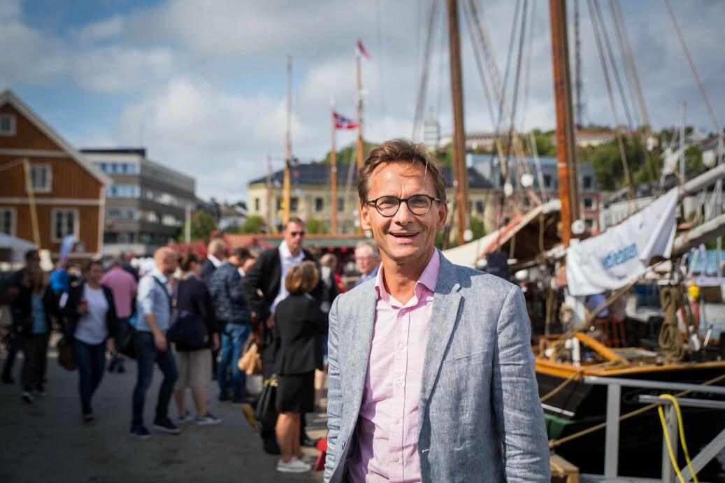 Påtroppende prorektor for arbeidsliv og innovasjon ved høyskolen Kristiania, Christen Krogh. Foto: Siri Øverland Eriksen