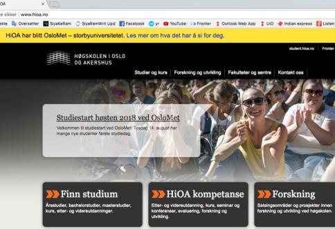 OsloMet vil bruke 10 millioner på nye nettsider