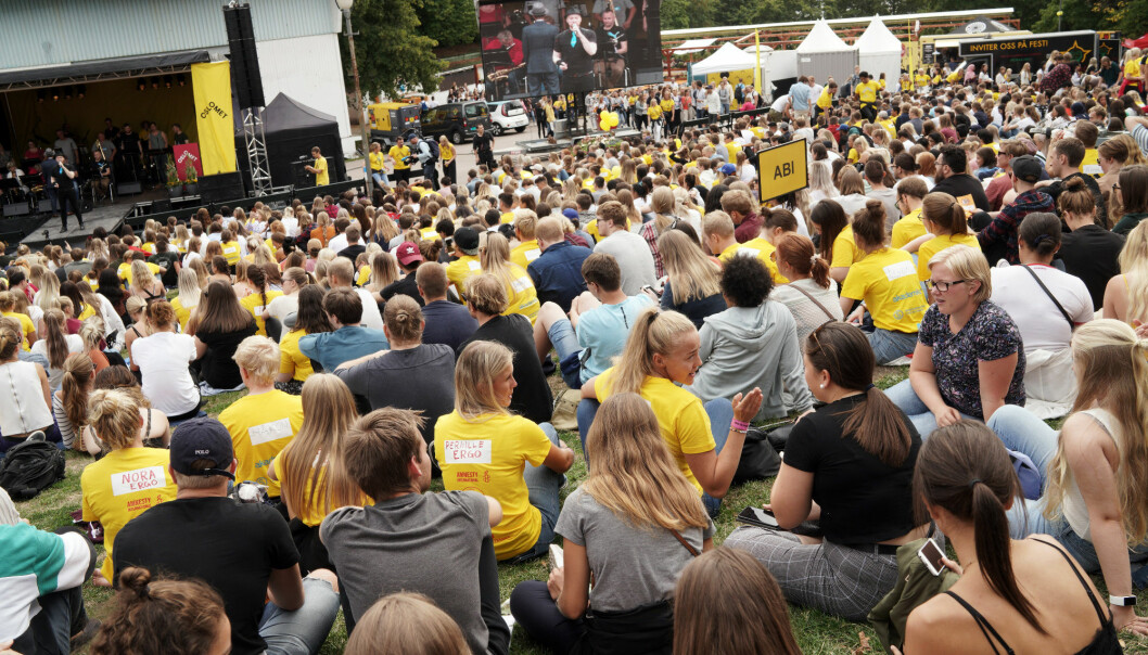Velkomstseremonien på osloMet, august 2018. Foto: Ketil Blom Haugstulen