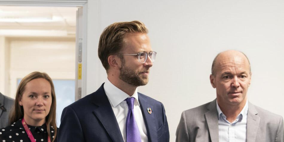 Digitaliseringsminister Nikolai Astrup på besøk på OsloMet. Foto: Sonja Balci