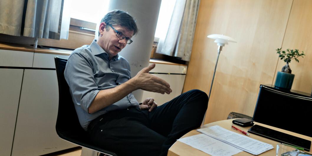Fornøyd Oslo-rektor: Svein Stølen er godt fornøyd med at universitetet hans plasserer seg bedre enn noensine på en viktig rangering. Foto: Ketil Blom Haugstulen
