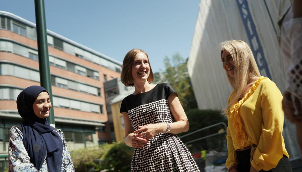 Forsknings- og høyere utdanningsminister Iselin Nybø, her fra lanseringen av opptakstallene for høyere utdanning i juli. Foto: Ketil Blom Haugstulen