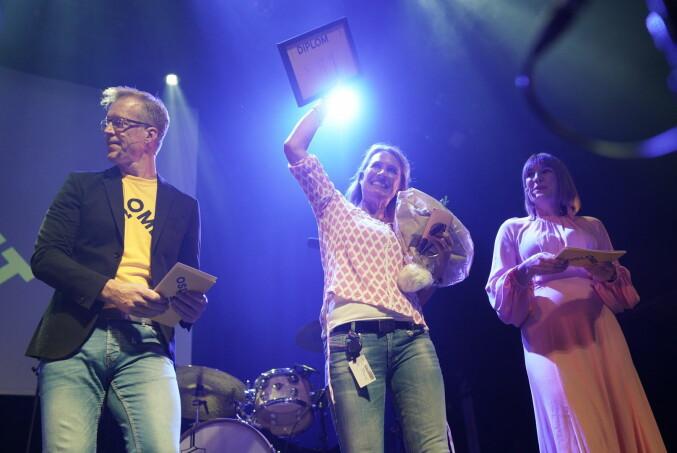 Hilde Anette Aamodt var en av tre mottakere av årets arbeidsmiljøpris.