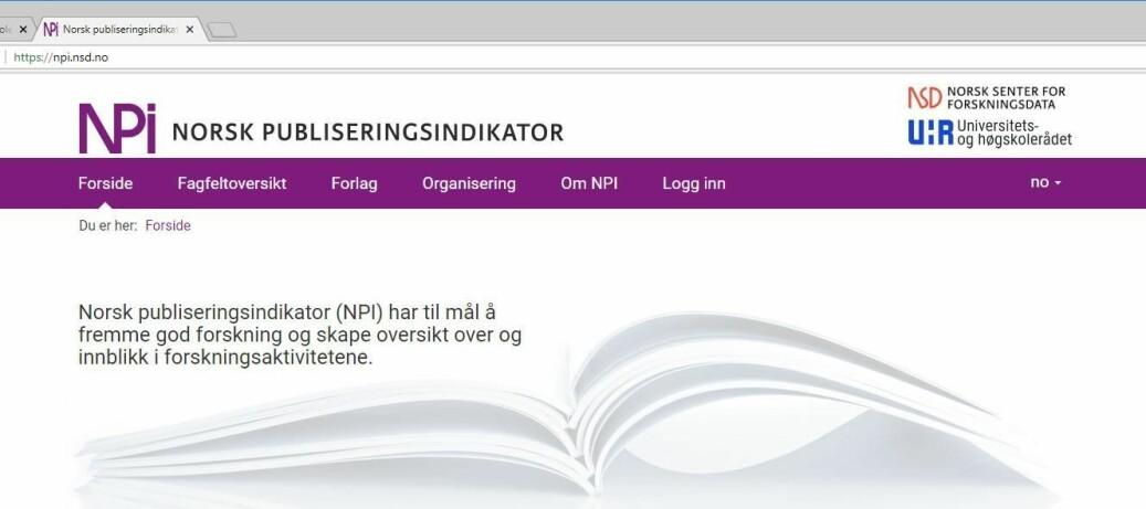 Publiseringsindikatoren er et vern mot røverpublisering, skriver forfatterne av dette innlegget. Foto: UHR