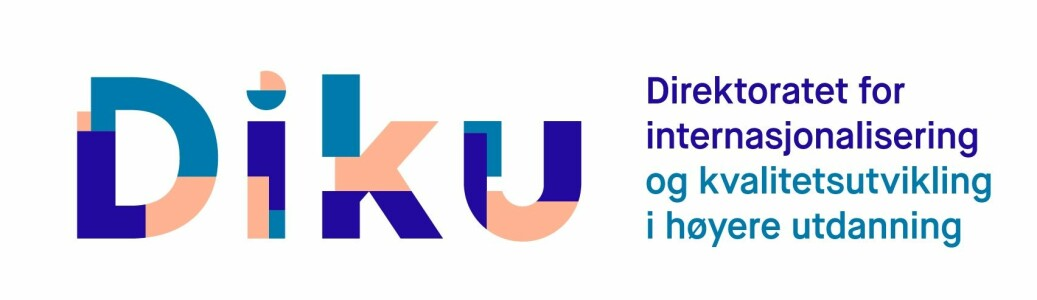 Her er den nye logoen til Direktoratet for internasjonalisering og kvalitetsutvikling i høyere utdanning (Diku) som blir en formalisert førstkommende mandag.