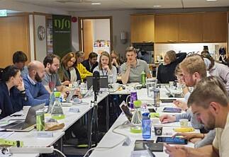 Utveksling og endring av politikk til debatt hos NSOs sentralstyre i dag