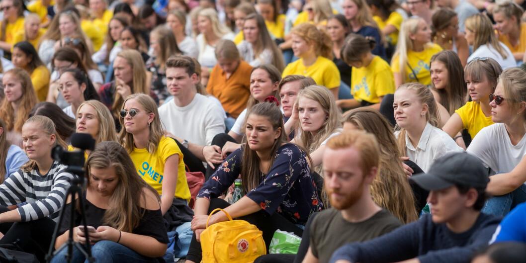Studiestart på OsloMet med velkomstseremoni på St. Hanshaugen. Foto: Ketil Blom Haugstulen
