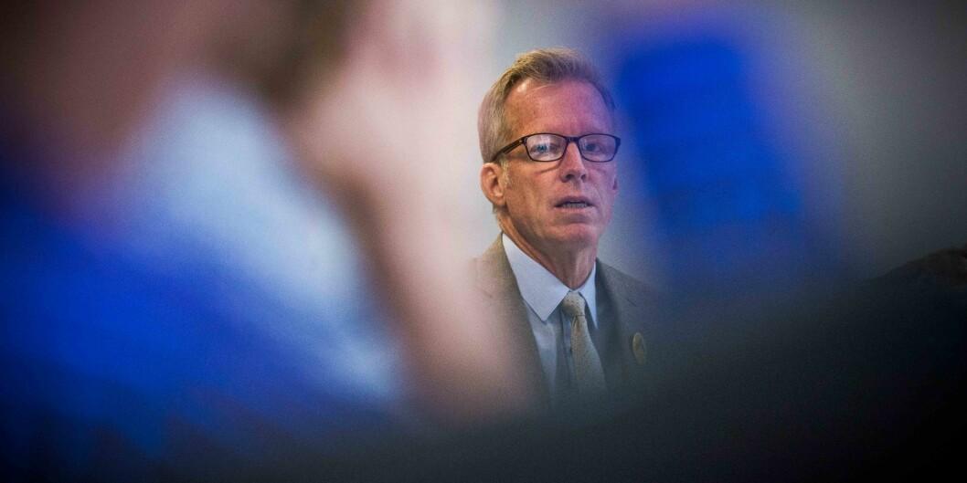 Rektor Curt Rice ved OsloMet får kritikk for skiltingen, men styret griper ikke inn. Foto: Siri Øverland Eriksen