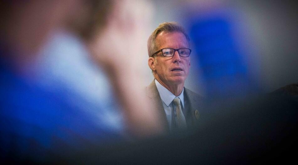Rektor Curt Rice ved OsloMet mener det kan være tid for å se om han bør foreta justeringer i ledelsen, samt organiseringen av universitetet. Foto: Ketil Blom Haugstulen