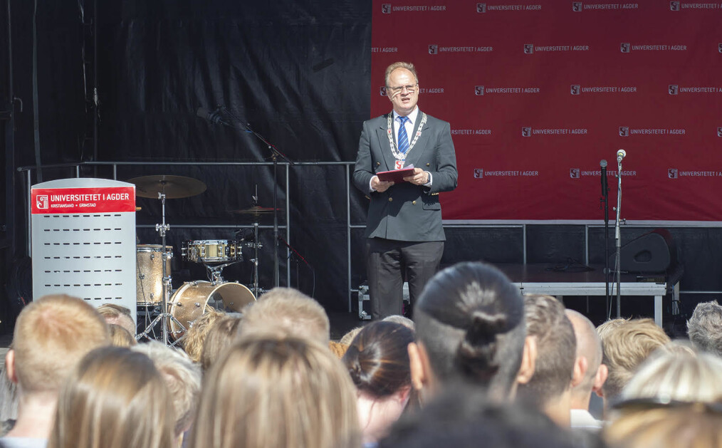Rektor Frank Reichert ved Universitetet i Agder vant rektorvalget i 2015. Foto: Saara Ojanen