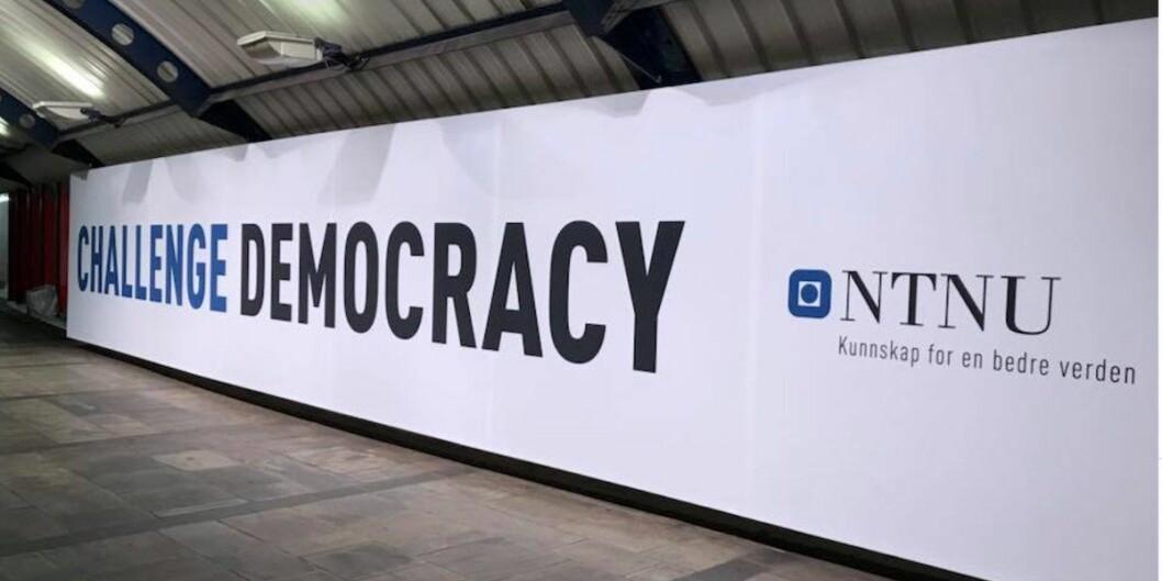 NTNU får Oslo-kontorer 350 meter fra Stortinget. Bildet er fra NTNUs «Challenge»-kampanje til 9 millioner kroner i 2018. Foto: Tove Lie
