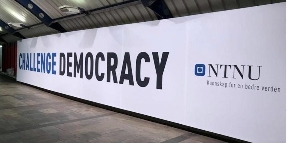 """NTNU har profilert seg med «challenge»-kampanjen den siste tiden. Men i Eikrem-saken er det """"orwellsk nytale"""" som kommer fra NTNU-ledelsen mener UiO-professor Kristian Gundersen. Foto: Tove Lie"""
