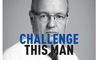 Denne annonsen med bilde av NTNU-rektor Gunnar Bovim har stått på trykk i Adresseavisen. I teksten heter det: «Innovasjon handler om å utfordre. Å tørre å stille spørsmål ved gitte sannheter, selv når de kommer fra rektor. Det er det som driver oss framover. Det er det som gjør oss til NTNU». Foto: NTNU