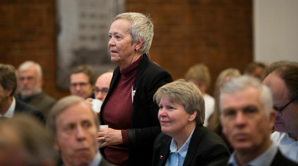 Rektor Kathrine Skretting vil ha samme regler for alle faglig ansatte ved Høgskolen i Innlandet for hvor mye tid de skal bruke på forskning. Foto: Skjalg Bøhmer Vold