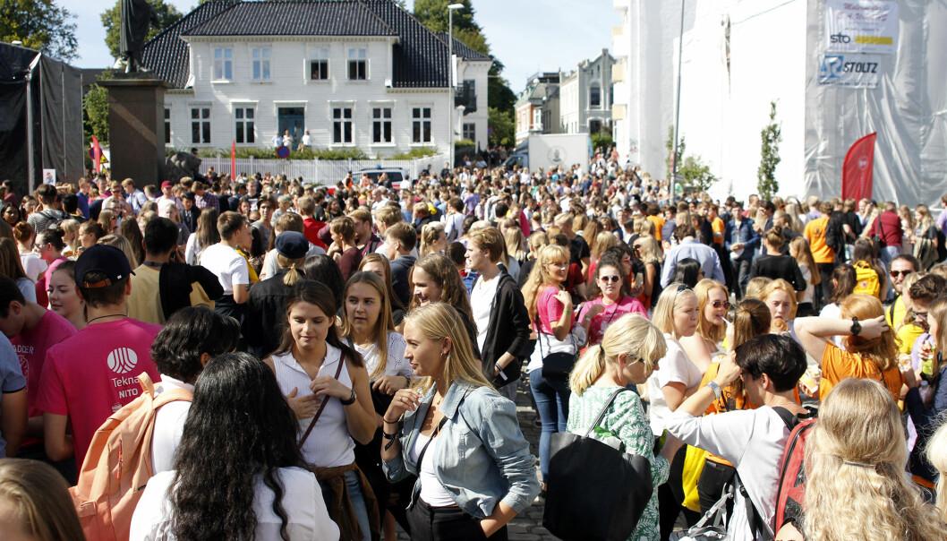Studiestart ved Universitetet i Bergen (UiB) høsten 2018. Foto: UiB