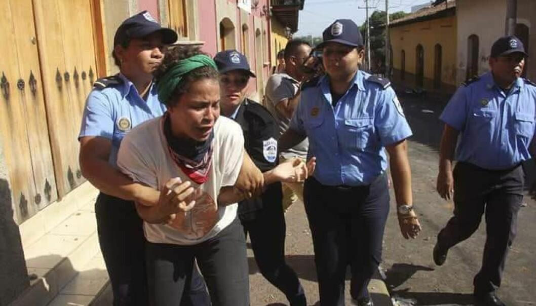 Amaya Coppens er en nicaraguansk studentleder som ble fengslet nylig. Foto: Norwin Mojica