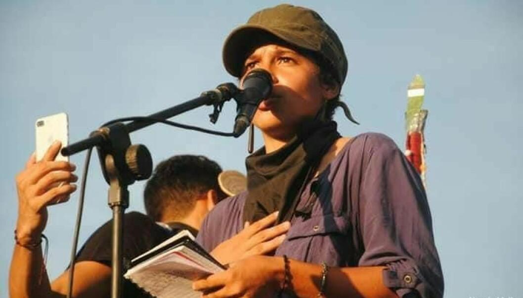 Amaya Coppens er studentleder i landet som er fasit i spørsmål 2. Foto: Norwin Mojica