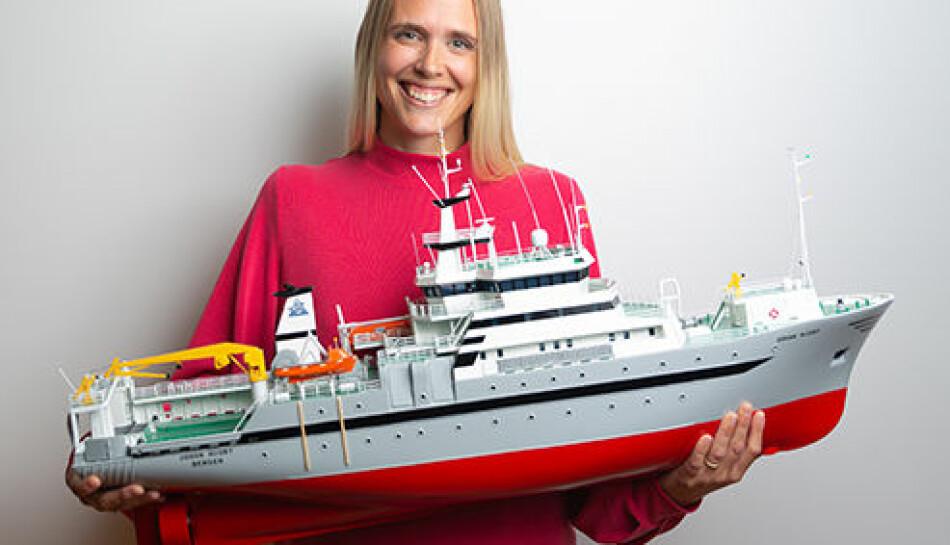 Johanna Myrseth Aarflot er en av delfinalistene i Bergen. foto: Forskningsdagene i Bergen