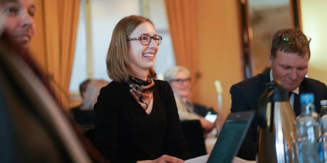 Iselin Nybø, her på toppmøte om digitalisering, prøver en ny vri på oppnevning av styremedlemmer til Forskningsrådet fra nyttår. Foto: Ketil Blom Haugstulen
