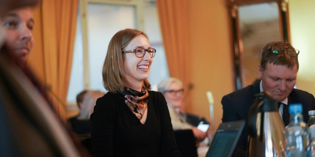 Forsknings- og høyere utdanningsminister Iselin Nybø får dele ut 65 millioner kroner mer til forskning på muliggjørende teknologier i 2019. Det foreslås også 25 mill. mer til å øke kvaliteten i høyere utdanning. Foto: Ketil Blom Haugstulen