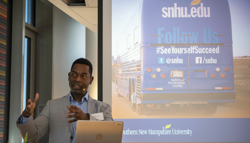 Greg Fowler fra SNHU, Southern New Hampshire University. Foto: Sonja Balci, OsloMet
