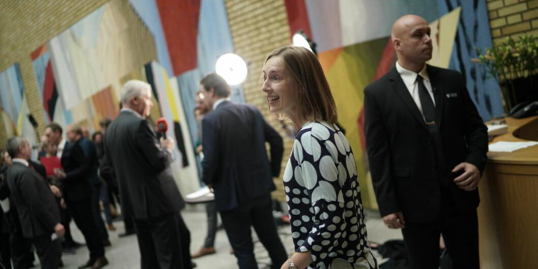 Representanter for høyere utdanning og forskning er veldig skuffet over at statsråd Iselin Nybø ikke har funnet penger til nye studieplasser og for kutt i studiefinansieringen. Foto: Ketil Blom Haugstulen