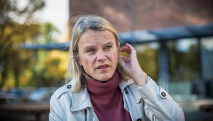 Nina Sandberg (Ap) sier det er liten grunn til å takke regjeringen for at studentombud for alle nå blir en realitet. Foto: Siri Øverland Eriksen