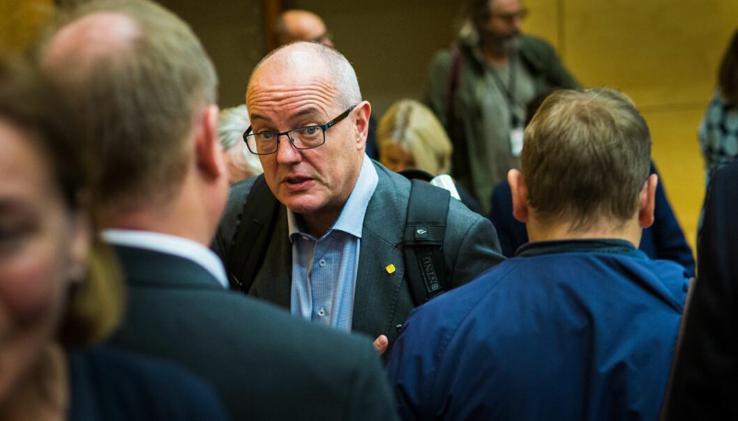 NTNU kan kutte opptil 364 årsverk, mener konsulentene i Ey. Her er rektor Gunnar Bovim ved NTNU.Foto: Siri Øverland Eriksen