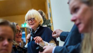 Berit Rokne var tilstede da statsbudsjettet for 2019 ble lagt fram. Foto: Siri Øverland Eriksen