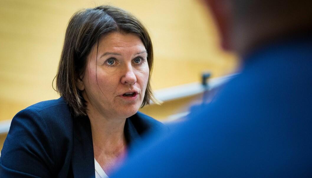 — Én prosent nedgang i midlertidighet er ikke noe å skryte av, sier Akademikernes leder Kari Sollien. Foto: Siri Øverland Eriksen
