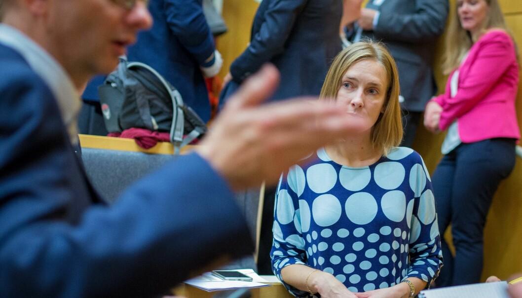 Statsråd Iselin Nybø understreker at regjeringen satser på kvalitet. Foto: Siri Øverland Eriksen