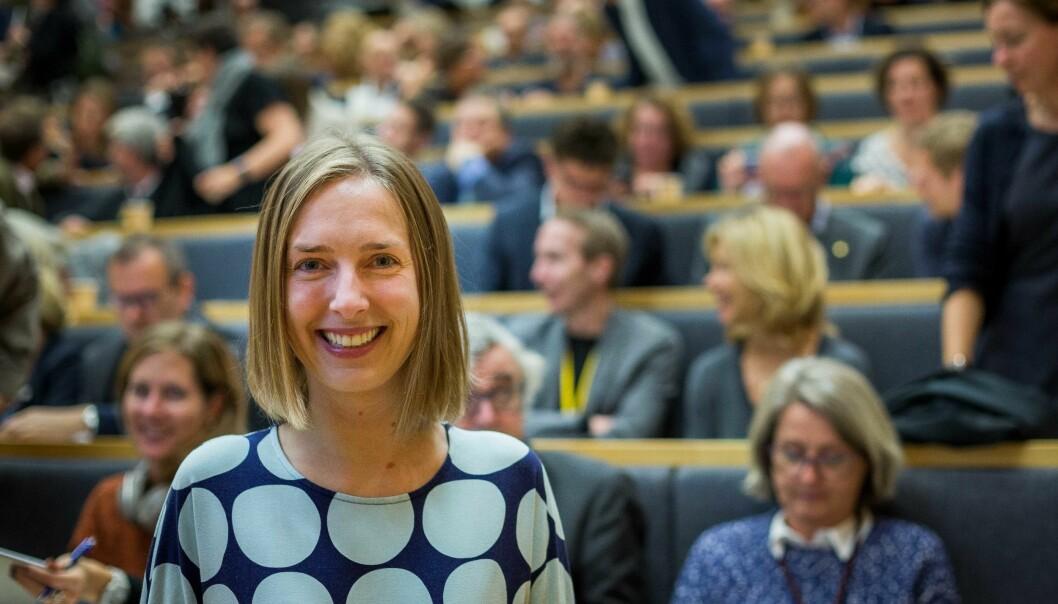 Statsråd Iselin Nybø venter spent på Norges 11.universitet. Foto: Siri Øverland Eriksen