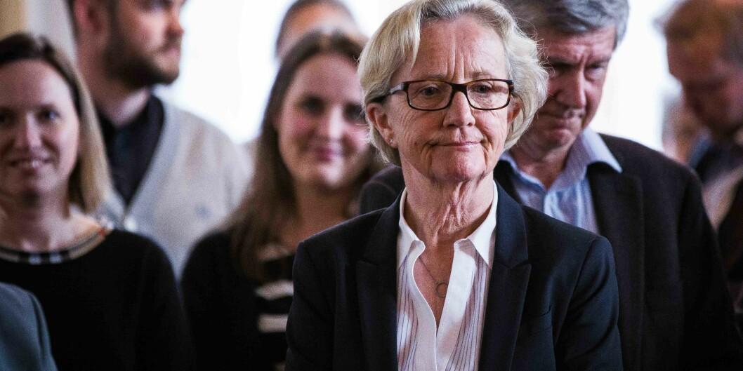 Gunn-Elin Aa. Bjørneboe (62) har snart sittet i 12 år som øverste administrative leder ved Universitetet i Oslo og må gå av i 2019. Foto: Siri Øverland Eriksen