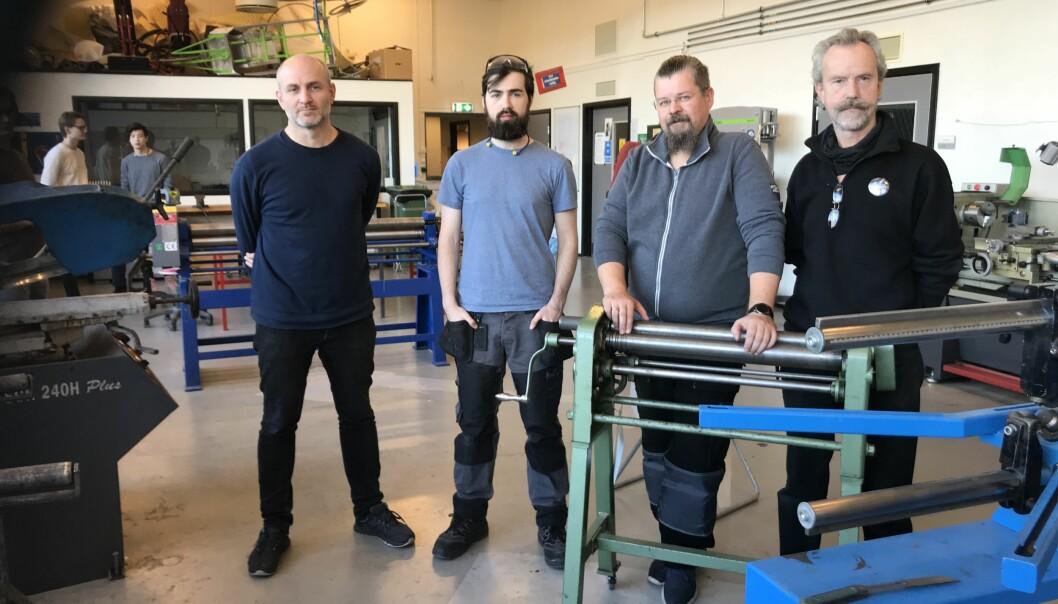 Mikkel Wettre, Eric Nrodkelly, Mikael Omlid, og Dag Ranheim Fossum Af Darre. Foto: Eva Tønnessen