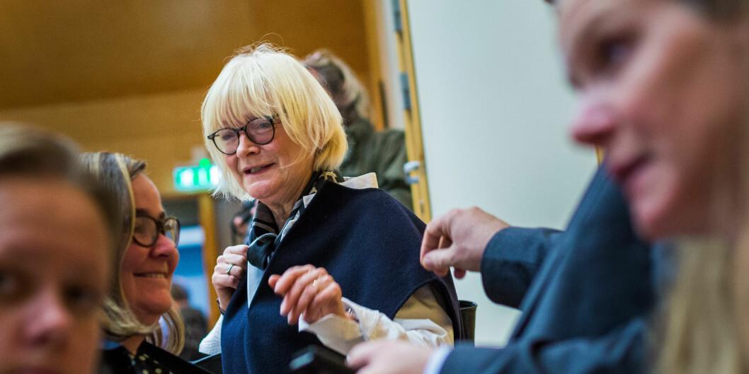 Rektor på Høgskulen på estalndet, Berit Rokne avholder styremøte torsdag 25. oktober. Foto: Siri Øverland Eriksen