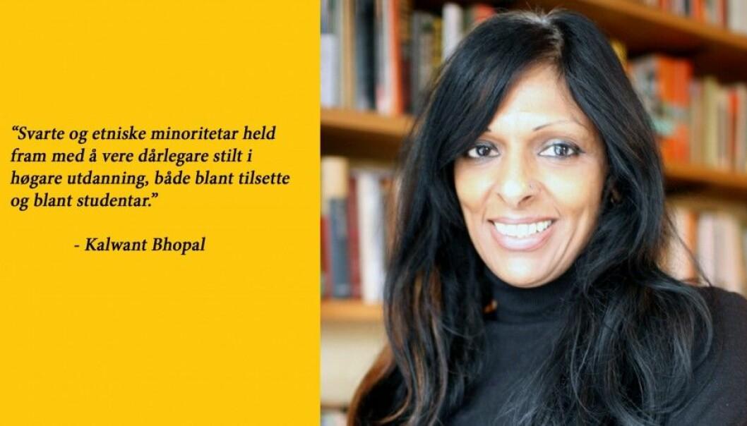 """Kalwant Bhopal kjem til Oslo i samband med konferansen """"Mangfald i akademia - frå omgrep til tiltak"""", som blir arrangert i Oslo 8. november. (Foto: Universitetet i Birmingham)"""