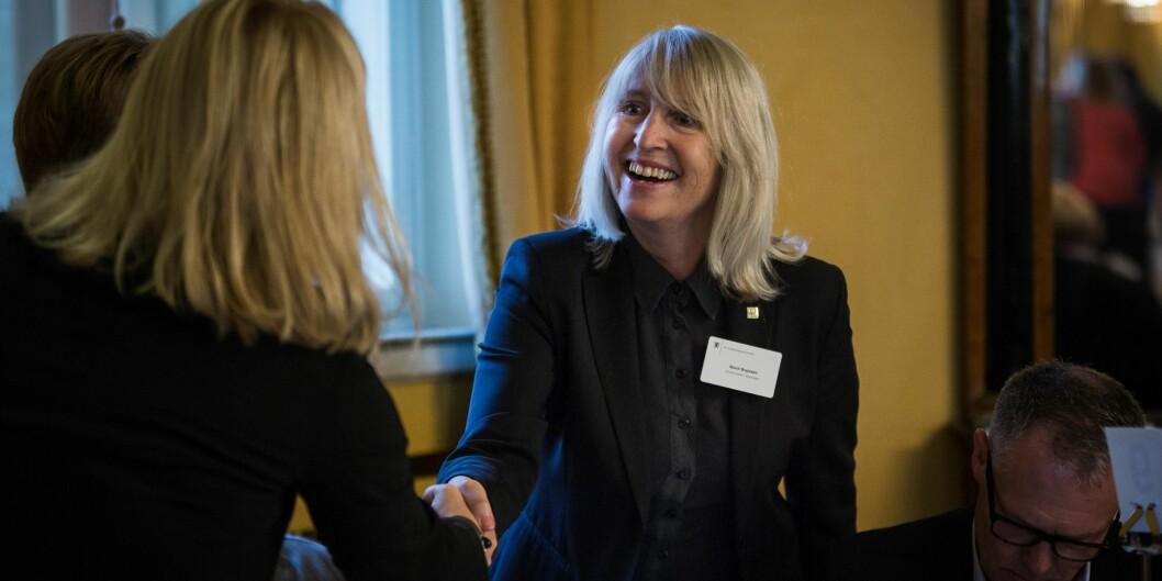 Rektor Marit Boyesen leder i dag sitt siste styremøe ved Universitetet i Stavanger. Fra august overtar Klaus Mohn. Foto: Siri Øverland Eriksen