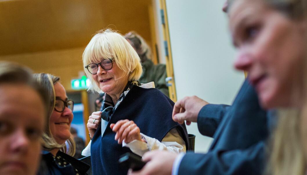 Rektor Berit Rokne og Høgskulen på Vestlandet har med snart fire godkjende doktorgradsprogram tatt eit langt steg på vegen mot universitetsakkreditering. Foto: Siri Øverland Eriksen