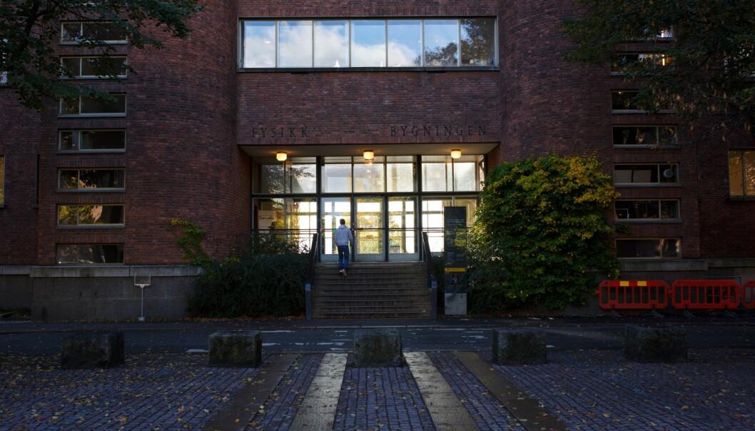 Den gamle Fysikkbygningen på Universitetet i Oslo - et sentralt bygg for Det matematisk-naturvitenskapelige fakultet. Foto: Siri Øverland Eriksen