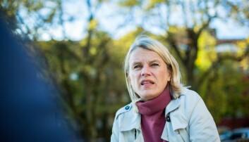 Nina Sandberg (Ap) er ikke fornøyd med svaret fra Bent Høie. Foto: Siri Ø. Eriksen