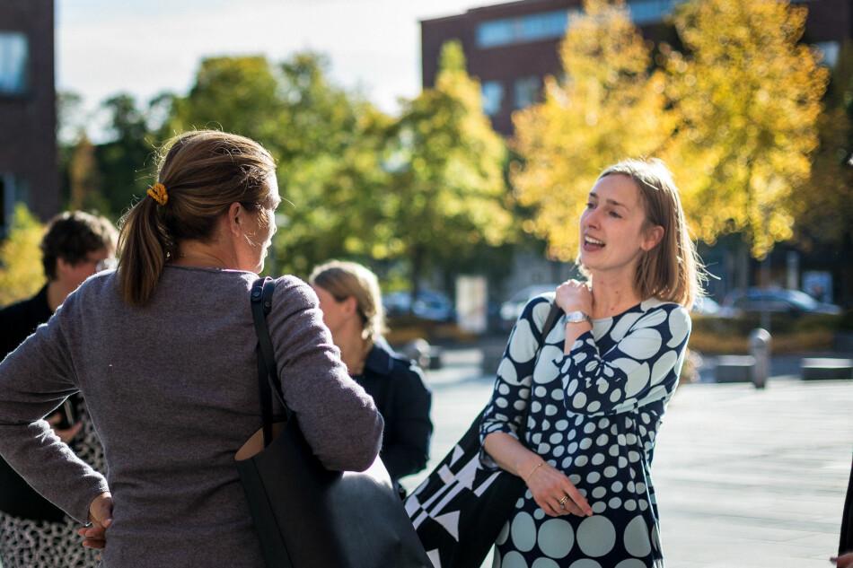 Forsknings- og høyere utdanningsminister Iselin Nybø på fjorårets statsbudsjettfremlegging. Foto: Siri Øverland Eriksen