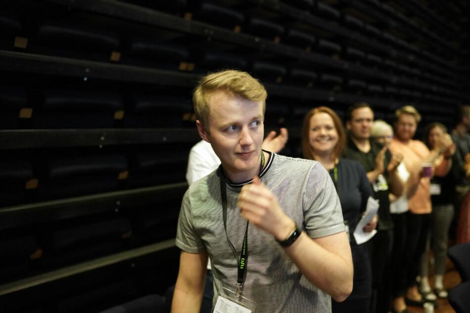 Norsk studentorganisasjon-leder Håkon Randgaard Mikalsen mener sentralstyret i organisasjonen ikke fungerer etter hensikten. Foto: Ketil Blom Haugstulen
