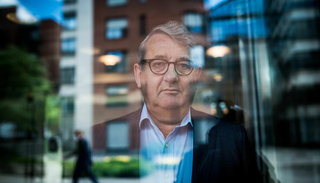 Riksrevisjonen, her ved riksrevisor Per-Kristian Foss, gir sterk kritikk til oppfølgingen av informasjonssikkerhet i universitetenes økonomisystemer. Foto: Skjalg Bøhmer Vold