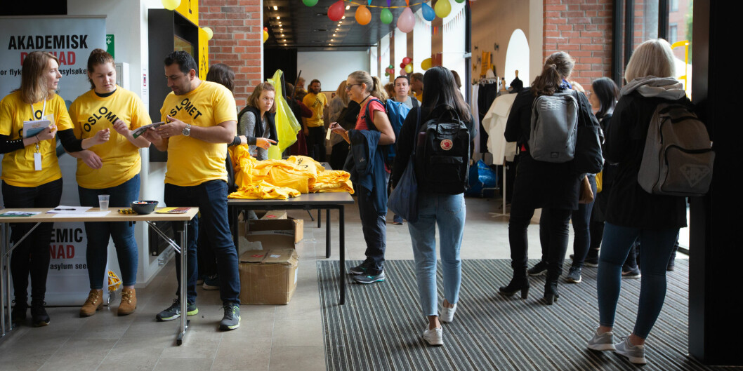 OsloMet feiret her seg selv. Nå vil universitetet ha et tettere samarbeid med Oslo kommune. Foto: Runhild Heggem