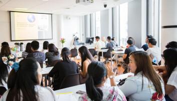 De fleste studentene på den kompletterende utdanningen for sykepleiere er fra Filippinene, men det er også studenter fra Eritrea, Etiopia, Russland og Nepal.