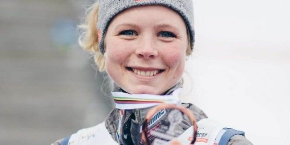 Maren Lundby er student ved Høgskolen i Innlandet. Høgskolen har mange studenter registrerte som toppidrettsutøvere. Rundt 150 studenter har denne statusen på høgskolen. To av disse var med i OL sist vinter, OL-gullvinner Maren Lundby og kombinertløper Espen Andersen. Foto: Alexander Henningsen/inn.no