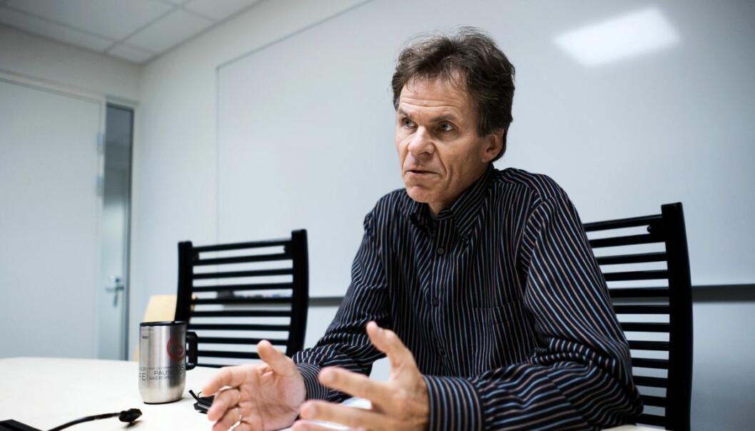 OsloMet har valg av ansatterepresentanter til styret denne uka. Einar Braathen, er UF-kandidat til universitetsstyret på OsloMet. Foto: Ketil Blom Haugstulen