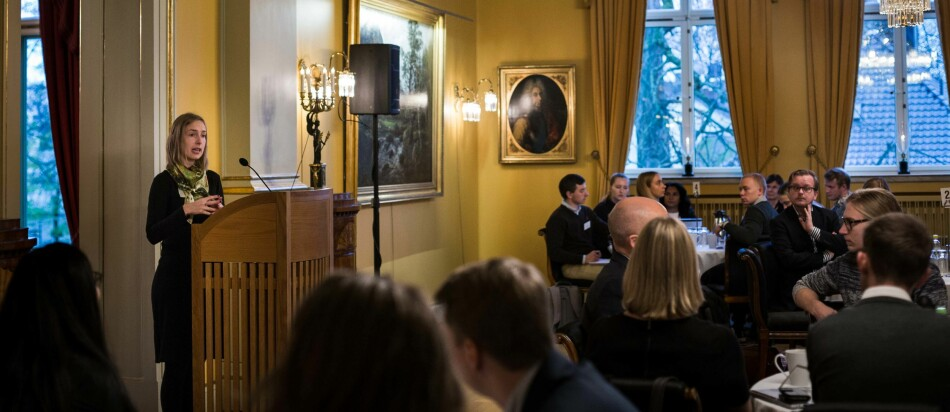 Studenttoppmøte med Iselin Nybø. Foto: Siri Øverland Eriksen